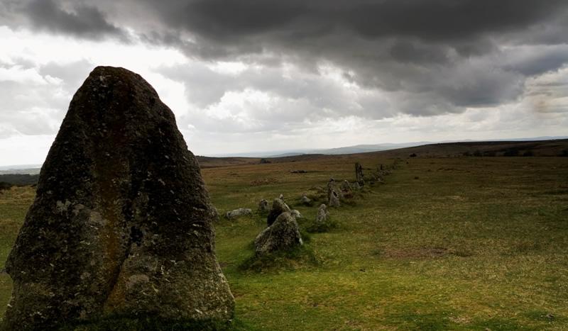 Merrivale stone row